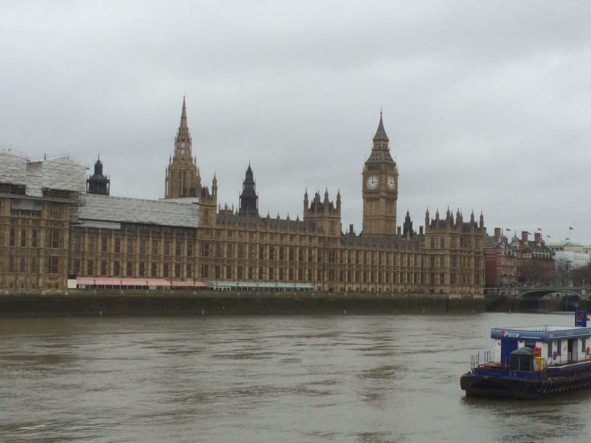 The classic view of Big Ben from Lambeth