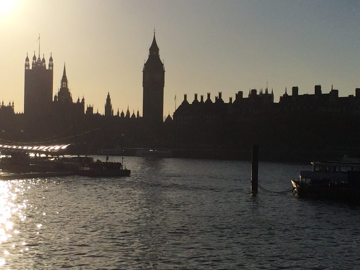 A Waterloo Sunset over Westminster